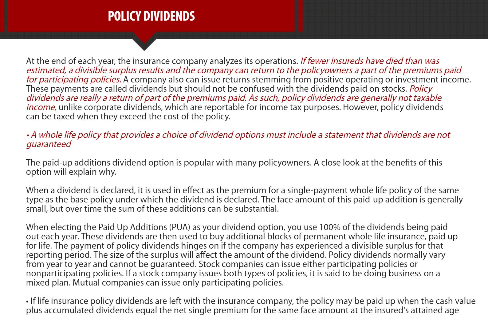 Chapter4. Life Insurance Policies - Provisions, Options ...
